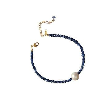Safirarmband with Pearl Sapphire Pearl bracelet gold plated