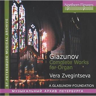 Zveginseva - A. Glazunov - komplette værker for orgel [CD] USA import