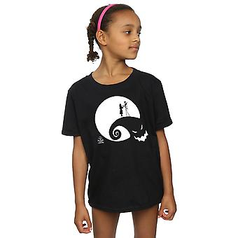 Disney Girls Nightmare Before Christmas Moon Oogie Boogie T-Shirt