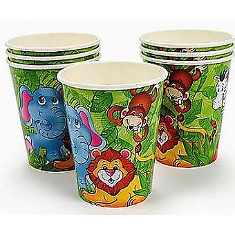 8 Zoo Animal Themed Paper Party Cups | Kids Party Cups