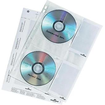 Durable CD / DVD organizer covers Transparent each with 4 CDs and bookl