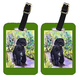 Carolines Treasures  SS8264BT Pair of 2 Portuguese Water Dog Luggage Tags