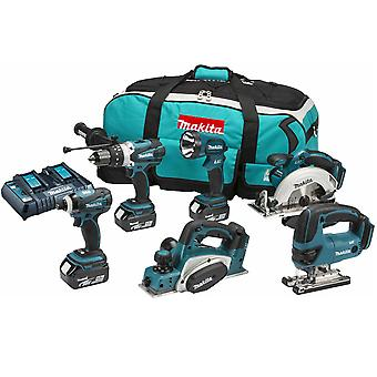 Makita DLX6012PM 18V li-ion 6 Piece Cordless Kit (3 x 4.0Ah Batteries) with Twin Charger