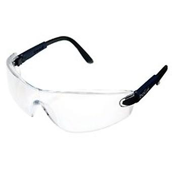 Bolle Vippsi Viper Glasses Electric Blue Frame Clear Anti-Scratch & Fog Lens