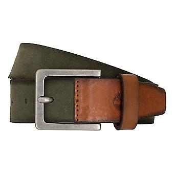 Timberland belts men's belts leather belt of jeans suede green 6767