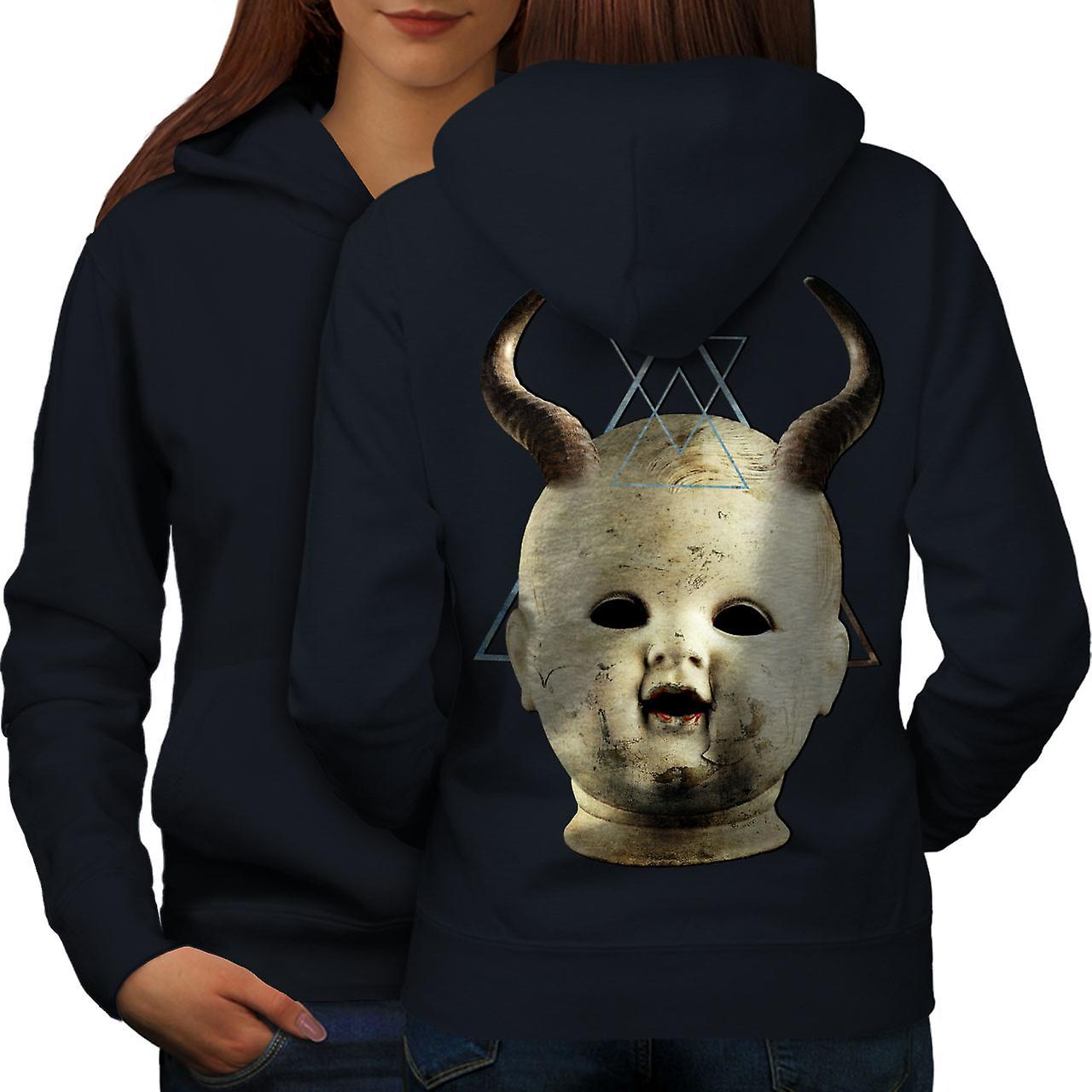 Diable Goth Satan horreur femmes NavyHoodie dos