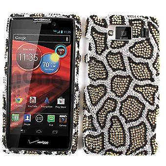 Unlimited Cellular Full Diamond Crystal Cover for Motorola XT926 Droid Maxx HD (Leopard Print)
