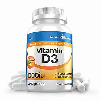 D-vitamin D3 1.000 IU kapsler - 120 kapsler - Vitamin Supplement - Evolution slankende