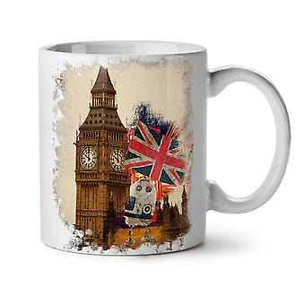 Tower Flag London UK NEW White Tea Coffee Ceramic Mug 11 oz | Wellcoda