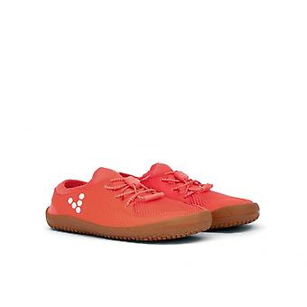 Vivobarefoot Primus K Neon Red Barefoot Causal Trainers With Puncture Resistant Sole