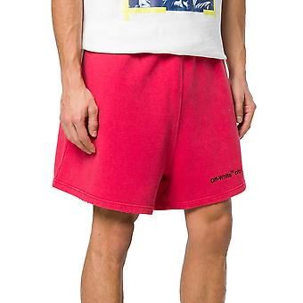 Off-white men's OMCI001S188750482010 red cotton of shorts