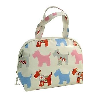 Vagabond Scottie Dog Oil Cloth Handle Bag Washbag
