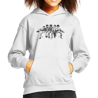 Jackson 5 At Hyde Park Corner 1977 Kid's Hooded Sweatshirt