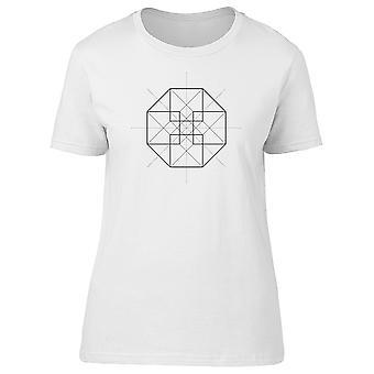 Hypercube Symbol Geometry Tee Women's -Image by Shutterstock