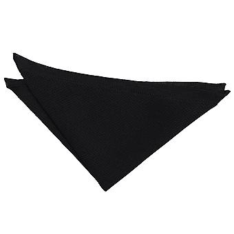 Black Knitted  Pocket Square