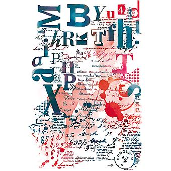 Carabelle Studio Cling Stamp A6-Typographic Collage