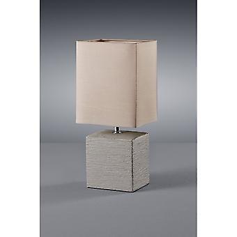 Trio belysning Ping moderne brune keramiske bordlampe
