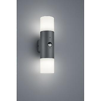 Trio Lighting Hoosic Modern Anthracite Diecast Aluminium Wall Lamp