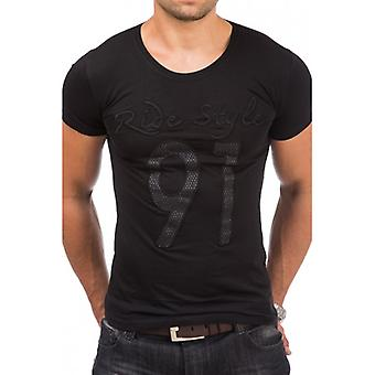 TAZZIO men's T-Shirt with front print black