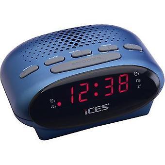 ICES ICR-210 FM Radio alarm clock FM Blue