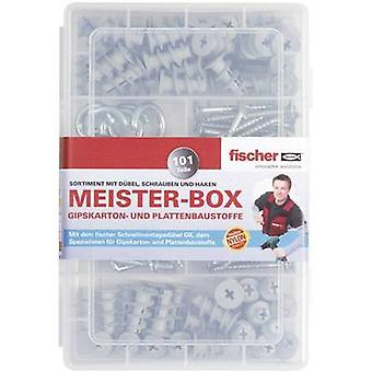 Fischer 513892 Meister-Box with GK dowels, screws, Angle, and eye hook 101 parts