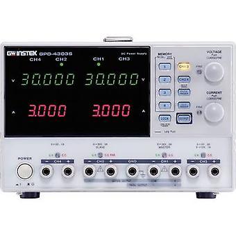 GW Instek GPD-4303S benk PSU (justerbar spenning) 0 - 30 Vdc 0 - 3 A 195 W USB ekstern kontrollert nr. av utganger 4 x