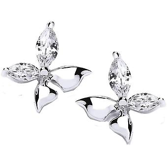 Cavendish French Float Like A Butterfly Earrings - Silver