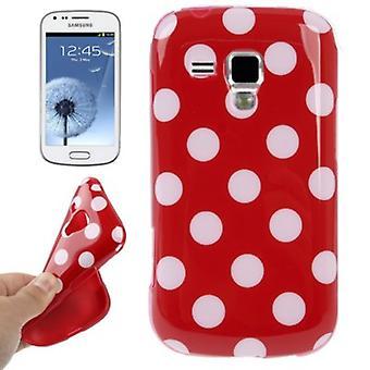 Capa protetora TPU pontos caso para celular duos Samsung Galaxy S S7562