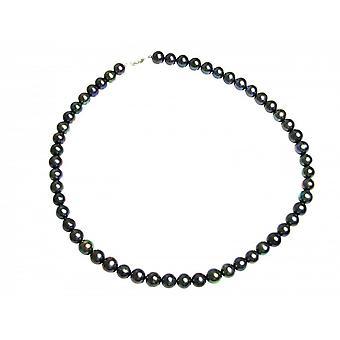 Halskæde - perler på snor - halskæde - perler - Tahitian - 925 sølv - 45 cm