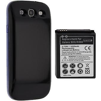 Akku für Samsung Galaxy S3 i9300, 4300 mAh Ersatzakku + Gehäuse