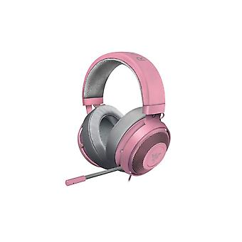 Razer Kraken Pro V2 Quartz Edition Wired On-Ear Analog Jack Port Gaming Headset with 50 mm Drivers for PC, Xbox One and Playstation 4, Oval Earcups, Pink