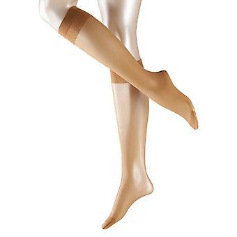 Falke Matte Deluxe 20 Denier Transparent Matte Knee High Tights - Sun Tan