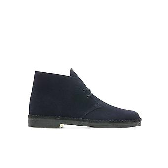CLARKS NAVY BLUE DESERT BOOT