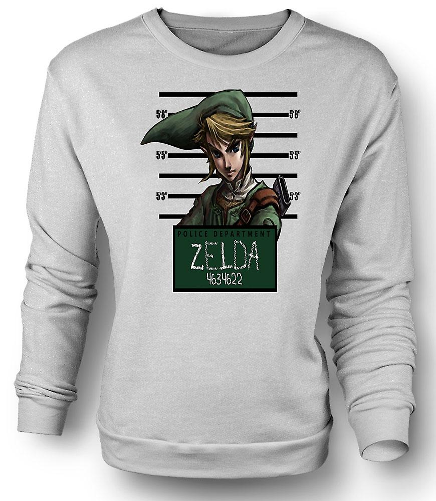 Mens Sweatshirt Zelda - mugg skott - Funny