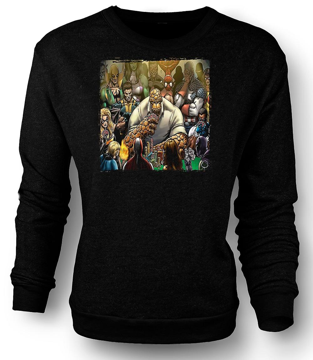 Mens Sweatshirt Poker Spiel Thing - lustig