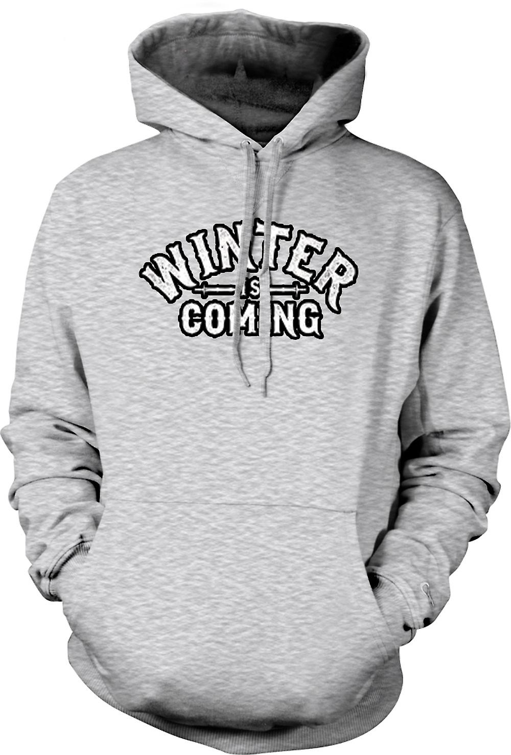 Mens Hoodie - Winter Is Coming Lettering