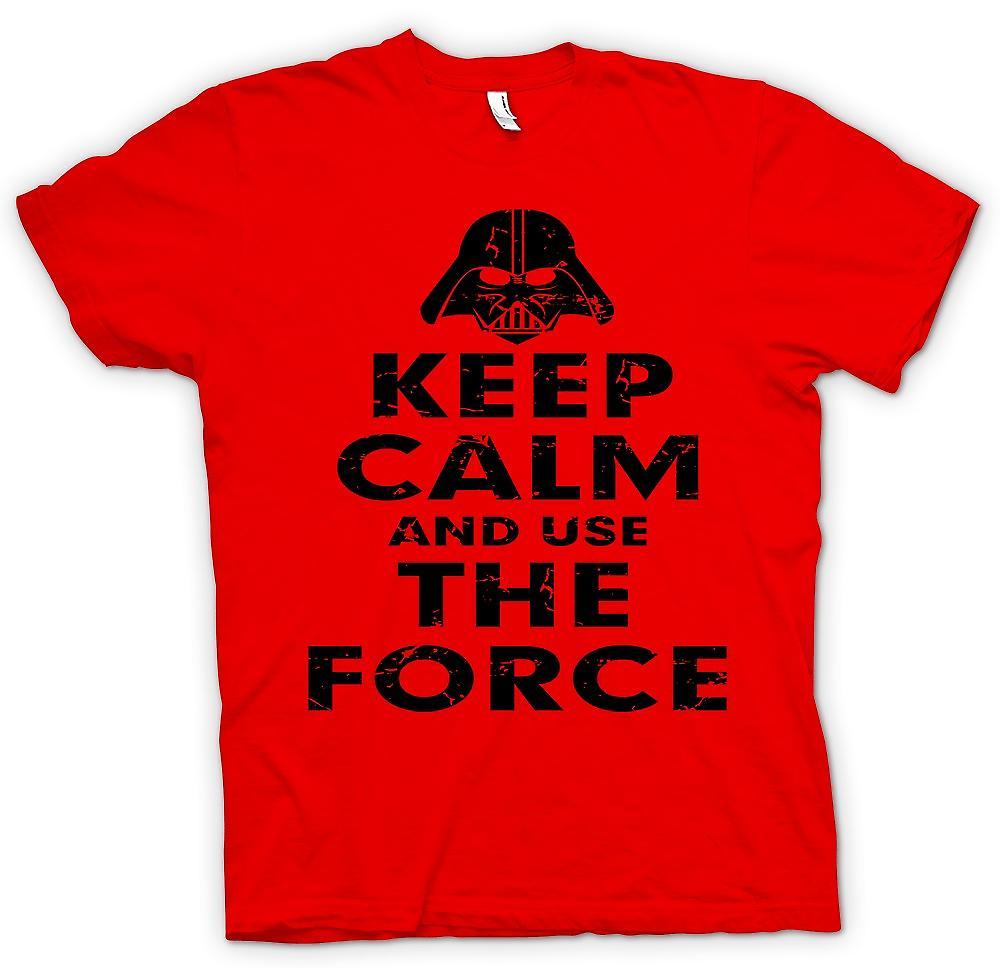 Heren T-shirt - kalmte bewaren en gebruiken van de kracht - Star Wars geïnspireerde