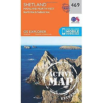 OS Explorer Map Active (469) Shetland - Mainland North West (OS Explorer Active Map)