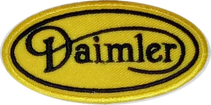 Daimler script iron-on/sew-on cloth patch  (ff)