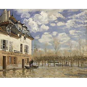 Barken i løpet av flommen, Alfred Sisley, 50x40cm