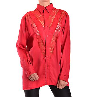 Céline Red Silk Shirt