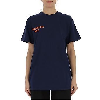 Semi-couture Simona Blue Cotton T-shirt