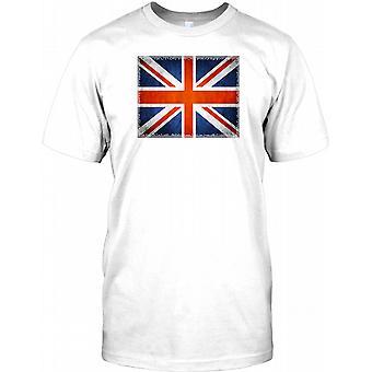 Union Jack Flag Design - Great Britain Mens T Shirt