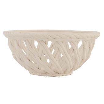 Clayre & EEF 6CE0328 diced bread basket basket white ceramic approx. Ø 17 x 7 cm