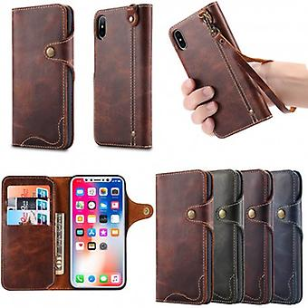 Mobile Wallet 3-short genuine leather Apple Iphone X/Xs