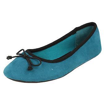 Girls Spot On Ballerina Shoes / Bow Trim
