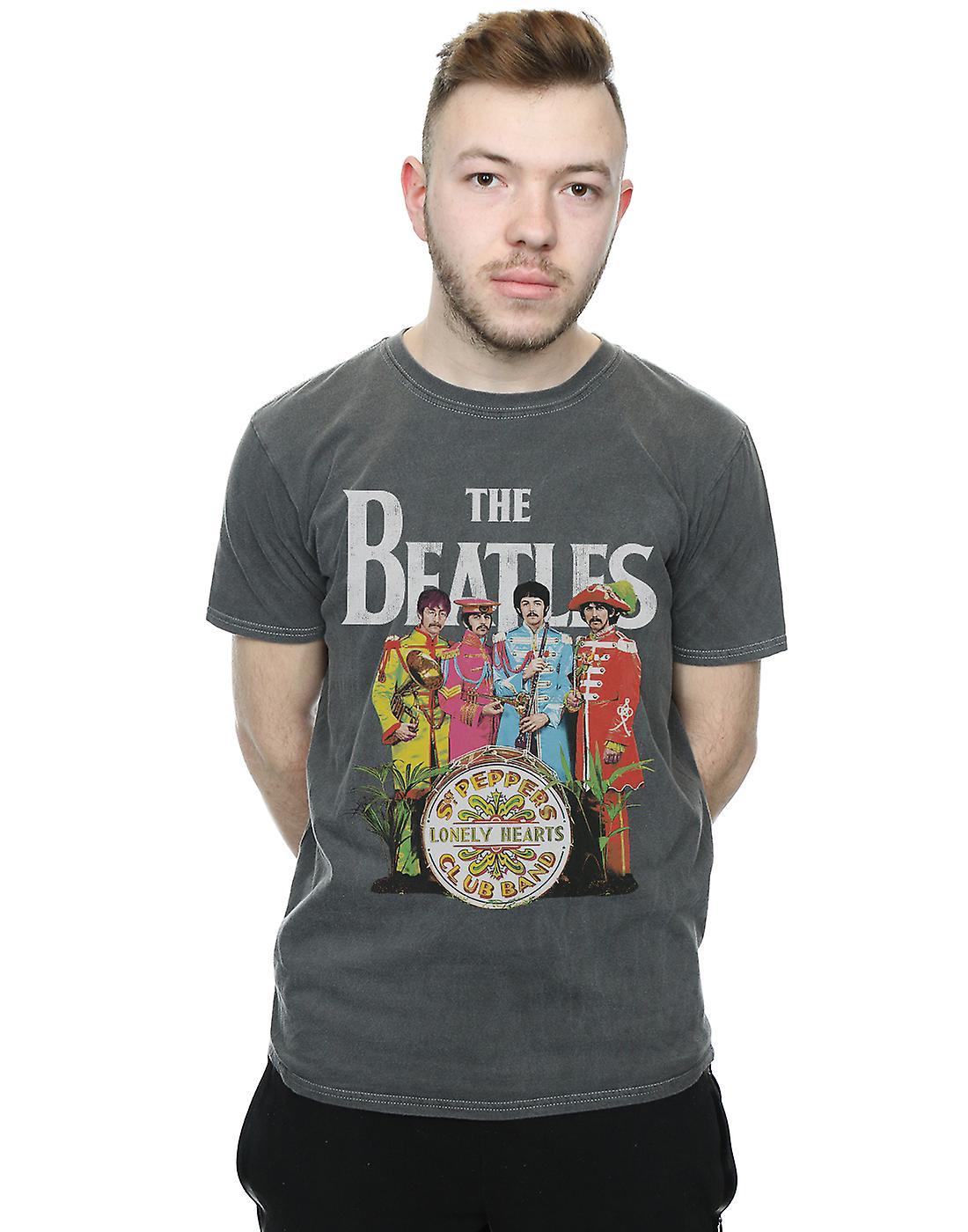 Le Sgt Pepper T-shirt lavé des Beatles pour hommes