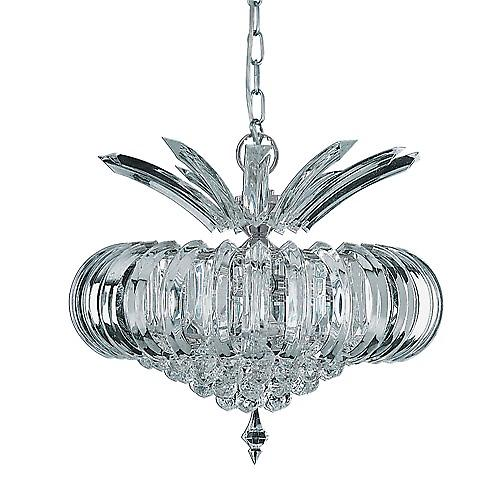 Searchlight 30020CC Sigma Modern Chrome 5 Light Clear Acrylic Ceiling Pendant