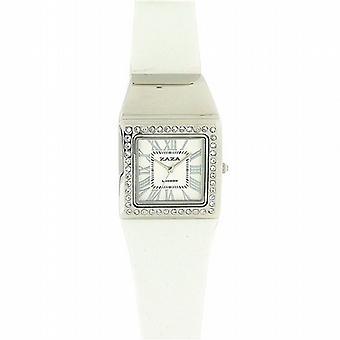 Zaza Londra cristallo incorporato bianco Dial Ladies Watch LLB861