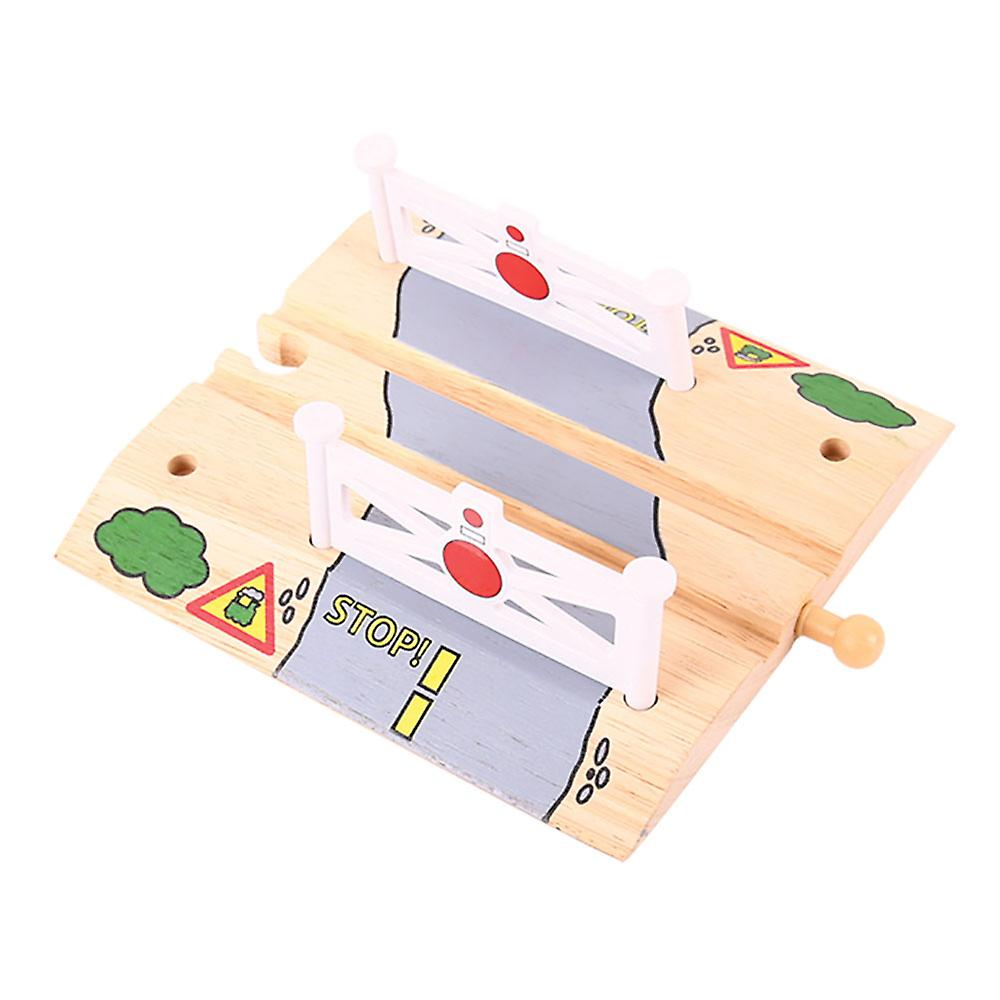 Bigjigs Rail Wooden Level Crossing Track Compatible Playset Expansion